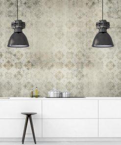 Foto-tapeta do kuchni - Beżowy wzór