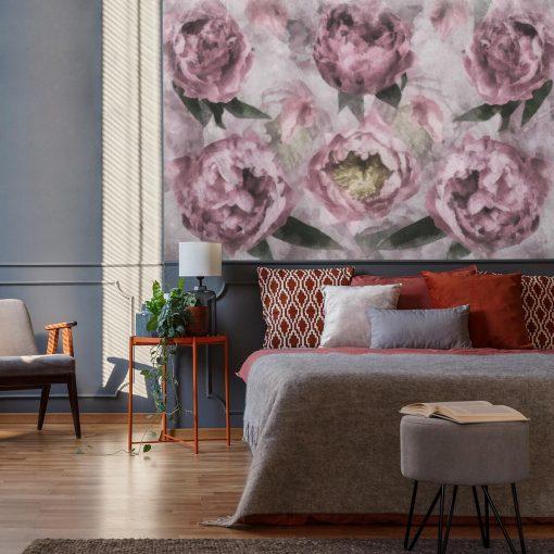 Foto-tapeta - Motyw kwiatów do sypialni