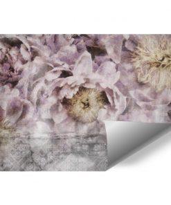 Tapeta do przedpokoju - Kwiaty i orientalny wzór