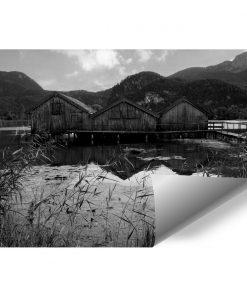Fototapeta z drewnianymi domkami do biura