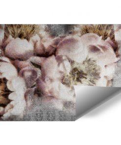 Botaniczna tapeta z kwiatami do pokoju