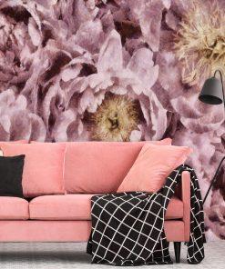 Fototapeta z różowymi piwoniami do salonu