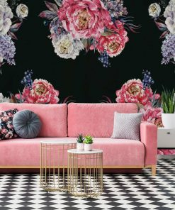 Fototapeta z kwiatami peonii do sypialni