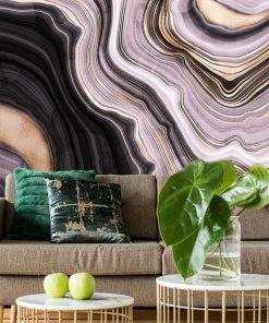 Fototapeta z falistą abstrakcją do pokoju