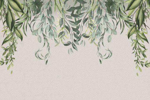 Fototapeta z botanicznym wzorem