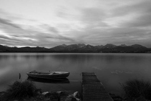 Fototapeta z jeziorem Hopfensee