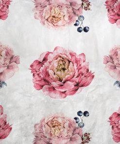 Rustykalna tapeta - Kwiaty