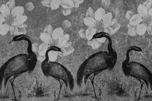 Fototapeta z żurawiami