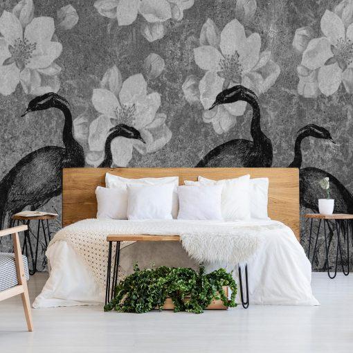 Fototapeta z żurawiami do sypialni