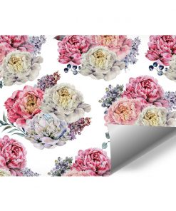 Tapeta w kwiatowy wzór do pokoju
