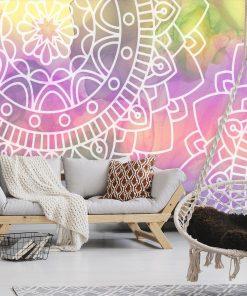 Fototapeta z pięknymi mandalami do sypialni