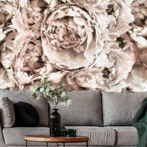 Tapeta - Eleganckie kwiaty do pokoju
