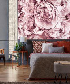 Botaniczna tapeta do sypialni - Piwonie
