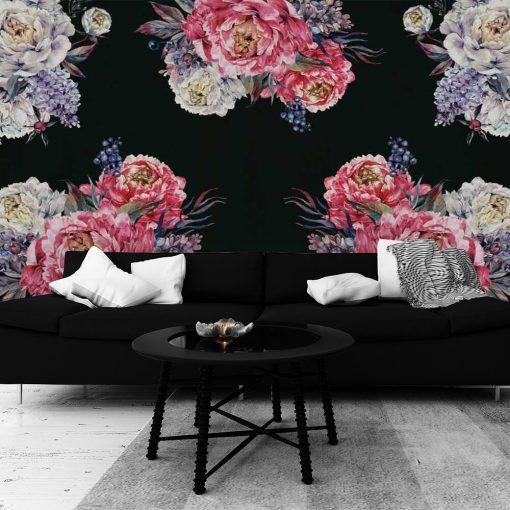 Fototapeta z kwiatami peonii do salonu