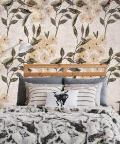 Foto-tapeta do sypialni - Kwiecisty wzór