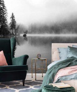 Fototapeta do sypialni - Mgła nad jeziorem