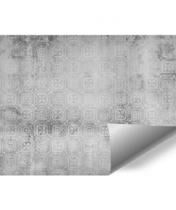 Szara tapeta do biura - Wzór marokański