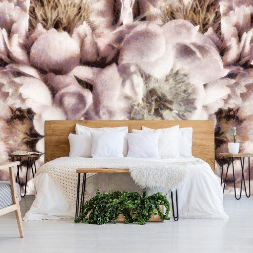 Fototapeta z motywem kwiatów do sypialni