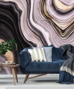 Fototapeta z falistą abstrakcją do salonu