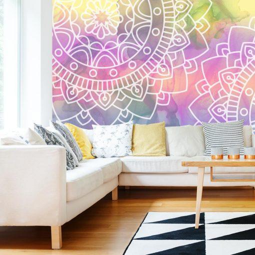 Fototapeta z pięknymi mandalami do salonu