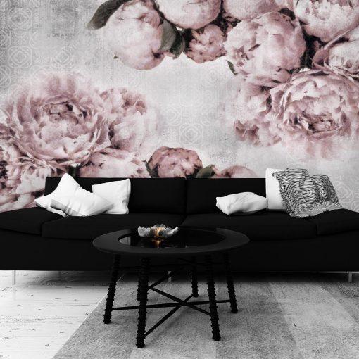Fototapeta z różowymi peoniami do salonu