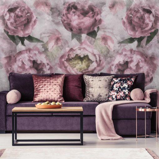 Foto-tapeta - Motyw kwiatów do salonu