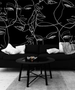 Tapeta z motywem line art do pokoju