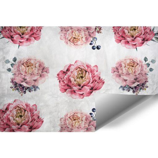 Rustykalna tapeta z kwiatami do pokoju