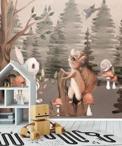 Foto-tapeta z muchomorkami do pokoju dziewczynki