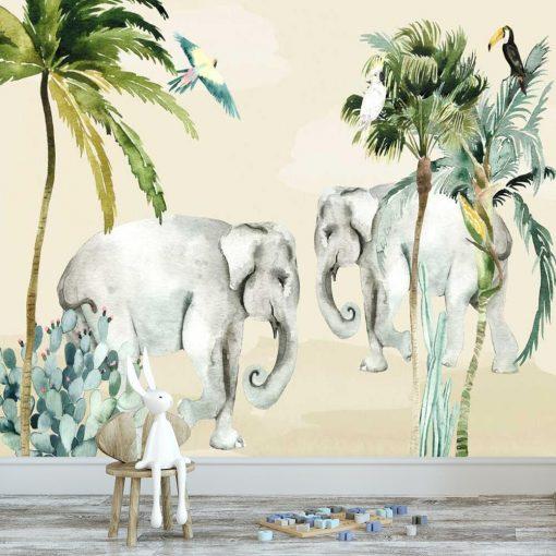 Rodzinka słoni- fototapeta do pokoju dziecka