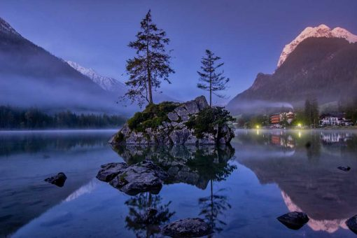 Fototapeta z jeziorem - Bawaria