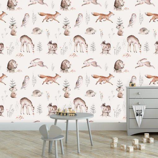 Foto-tapeta dla chłopca - Leśne zwierzęta