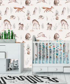 Foto-tapeta dla dzieci - Leśne zwierzęta
