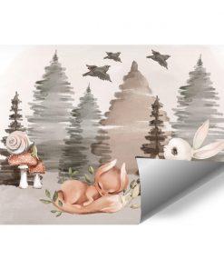 Fototapeta boho do pokoju dziecka - Zwierzęta