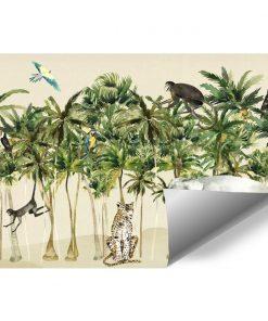 kolorowa dżungla- fototapeta dla przedszkolaka