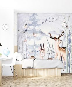 spokojna foto-tapeta z lasem dla dzieci