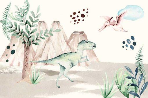 Tapeta dziecięca z Tyranozaurem Rex