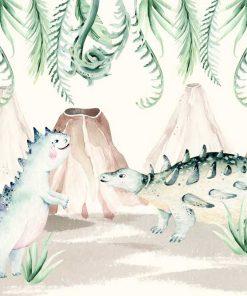 Fototapeta pastelowa - Dinozaury