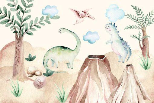 Dziecięca foto-tapeta w dinozaury