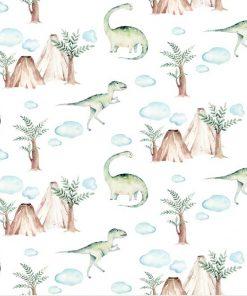 Wulkany i dinozaury - Fototapeta dla chłopców