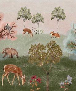 Barwna dziecięca fototapeta - Leśna polana