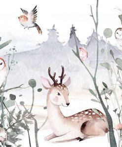 Leśne sowy - Fototapeta dla dzieci