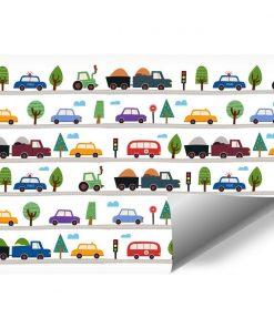 Foto-Tapeta dla dzieci w Autka