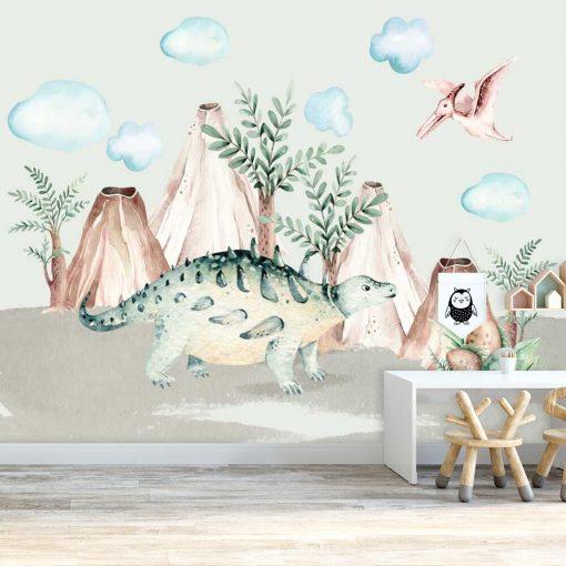 Fototapeta dla dzieci - Bajkowe dinozaury