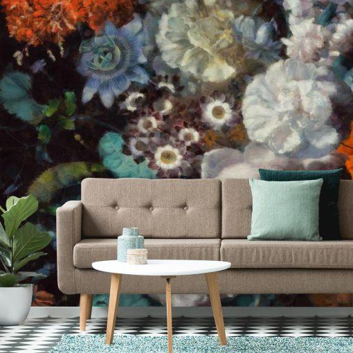 Pastelowa fototapeta - Jesienne kwiaty do gabinetu
