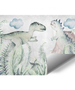 Foto-tapeta z dwoma dinozaurami dla dziecka