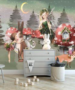 Tapeta dla dzieci z motywem muchomorów