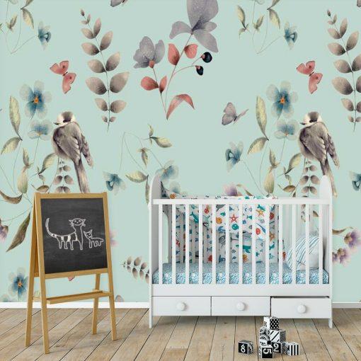 Ptaszki -fototapeta dziecięca