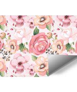 Różowa fototapeta dla nastolatki - Kwiaty