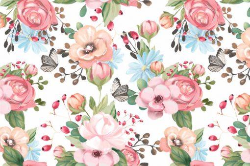 Kwiatuszki - Fototapeta dla dziewczynki